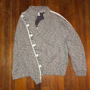 Gray Half zip